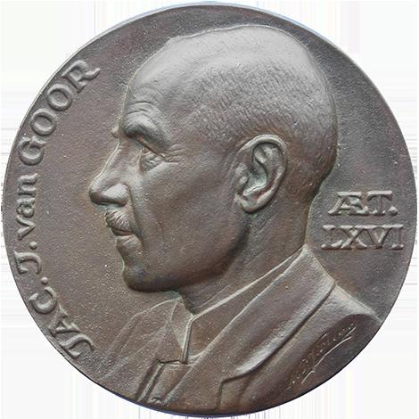 NEPK-penning nr. 2500. De medailleur Jac. J. van Goor